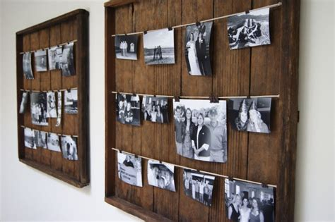 a wood wedding place card holder for a rustic 10 diy photo frames ideas