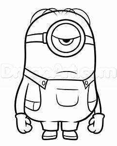 How to Draw Stuart From Minions, Step by Step, Characters ...