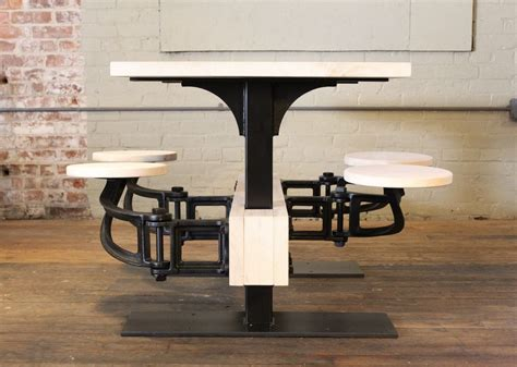 Vintage Industrial Cafeteria Swing Out Seat Kitchen