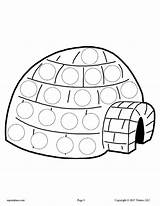 Igloo Dot Winter Printables Preschool Crafts Worksheets Printable Activities Craft Penguin Activity Letter Coloring Lesson Painting Plans Toddlers Mpmschoolsupplies Clip sketch template