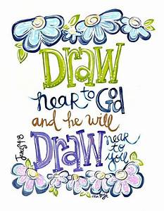 [James 4:8] Bible Journaling Pinterest Christian art
