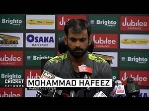 Mohammad Hafeez's emotions run high after century - YouTube