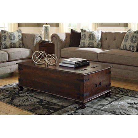 Ashley T89620 Holifern Warm Brown Trunk Look Storage