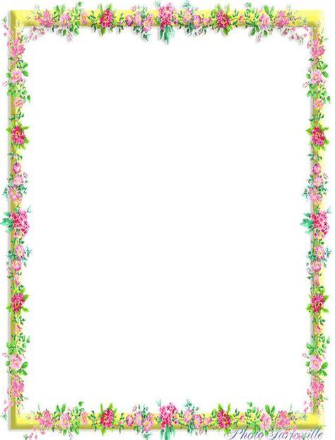 cadre photo a imprimer gratuitement papier lettre 224 imprimer cadre de fleurs les papiers lettre de farfouille