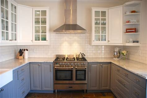 white kitchen cabinets with lower cabinets ikea lidingo gray lower cabinets with lidingo white
