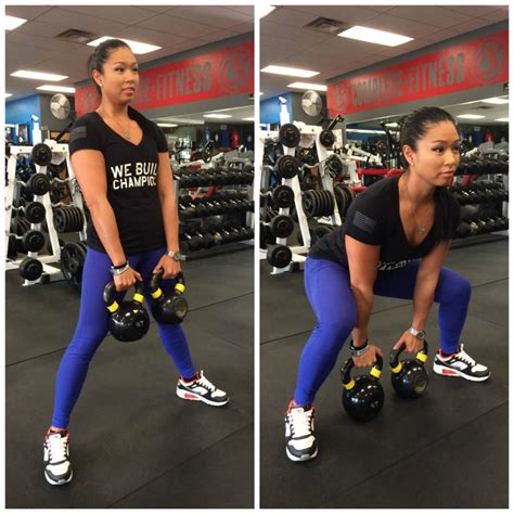 sumo squat kettlebell double trainer increase variation legs fitness strength lower looking