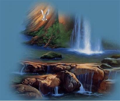 Nature Waterfall Spiritual Animated Spirit Scenery Gifs
