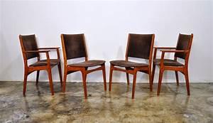Select, Modern, Set, Of, 4, Danish, Modern, Teak, Dining, Chairs