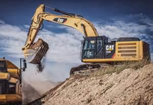 cat excavators caterpillar unveils hybrid excavator