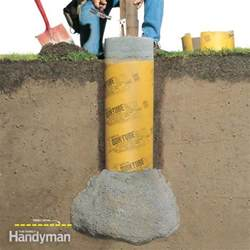 how to build a solid proof deck footing family handyman