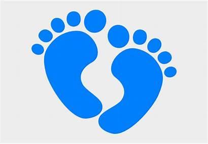 Feet Clipart Clip Boy Footprints Heart Babies