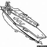 Avion Carrier Porte Aircraft Coloring Coloriage Dessin Navy Printable Drawings Colorier Saratoga Imprimer Template sketch template