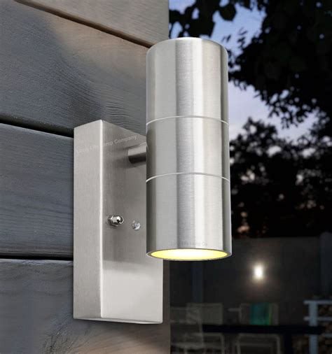dusk till dawn sensor outdoor up down wall light stainless