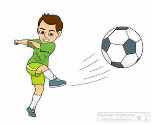 Soccer clipart soccer kick - Pencil and in color soccer ...