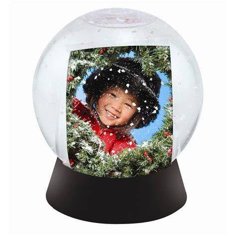 wholesale photo snow globes sphere globe  black base