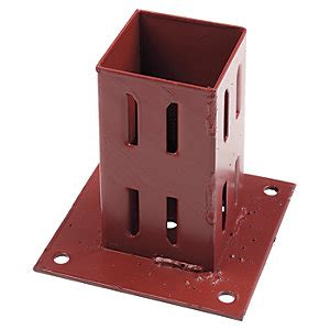 wickes erecta plate fence post support mm wickescouk