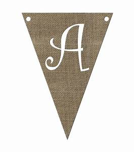 burlap triangle shaped pennant letters jo ann With letter pennants