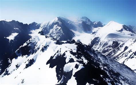 Snowy Mountain Wallpaper Hd Wallpapersafari