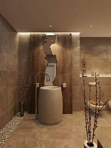 Colonne Salle De Bain Noir : le lavabo colonne en 81 photos inspirantes ~ Teatrodelosmanantiales.com Idées de Décoration