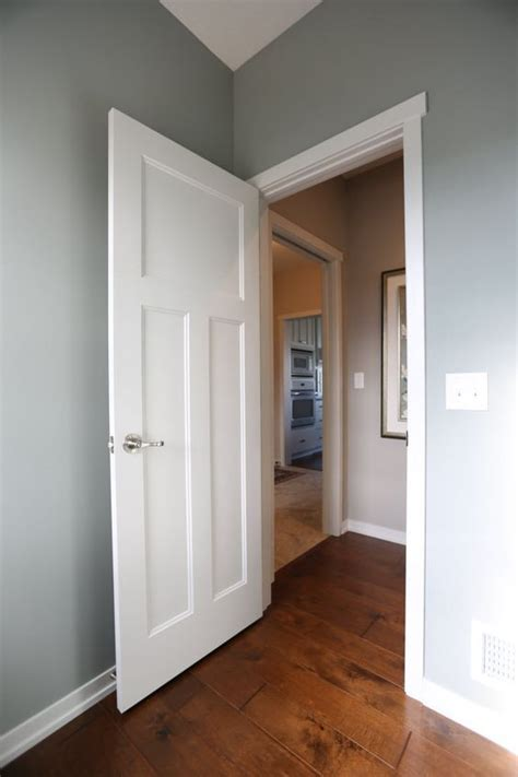 interior doors white molded  panel door   blue