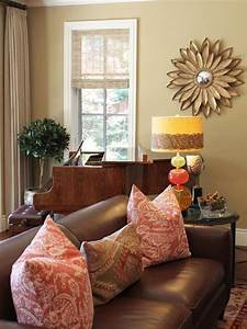 Brown, Couch, Design, Ideas, Pictures, Remodel, And, Decor