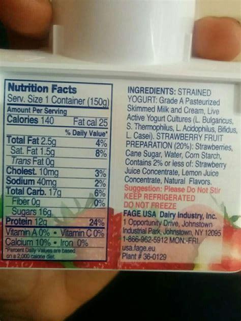 fage greek yogurt honey calories nutrition analysis