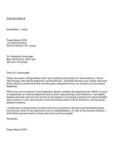 dental assistant cover letter sle cover letter