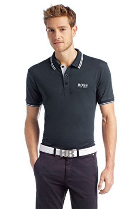 hugo s quot paddy pro quot modern fit polo shirt l navy