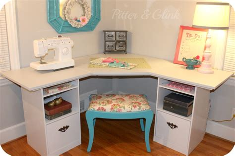 Pitterandglink {craft Room Corner Desk}