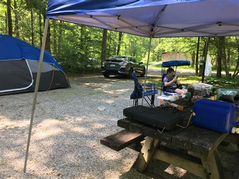 Nearly 200 campsites are developed to accommodate rvs and tent camping. Long weekend finally here! Cave run lake, KY : camping