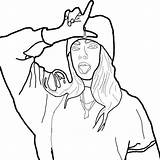 Billie Eilish Coloring Pages Print Billi Pose Likes Raskrasil sketch template