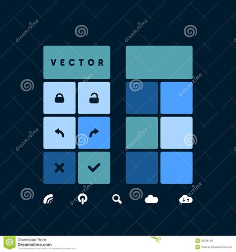the state of the modern smartphone user interface tested blue template stock vector image 39138148