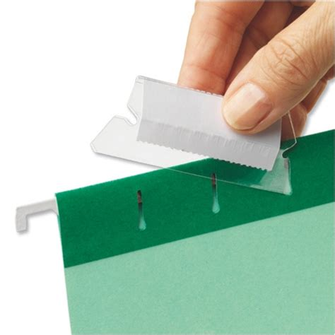Office Supplies Tabs by Plastic Tabs For Suspension Files Clear 94514 Pack 25