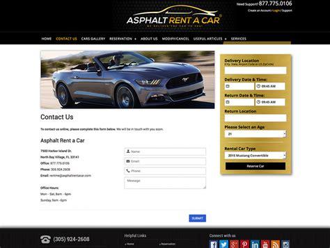 car rental web design web development  car rental company