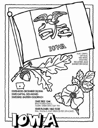 Iowa Coloring State Crayola Cyclones Kleurplaten Symbol