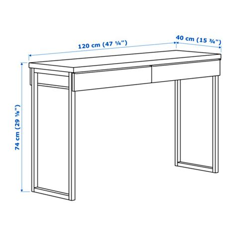 ikea bureau besta burs ikea besta burs office desk with 2 drawers in white ebay