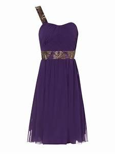 Jane norman Purple One Shoulder Embellished Prom Dress in ...