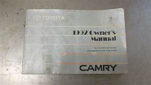 Toyota Camry 1992 92 Owners Owner Manual Book Handbook Kit