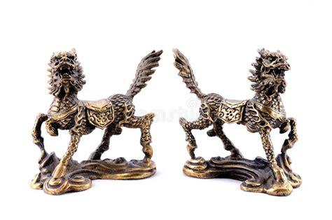 Feng Shui. Bronze Figures Qilin Stock Photo-image Of