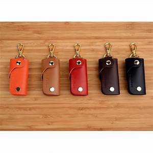 Leather, Key, Holder, Cover, Keychain, Keyring, Fobs, Case