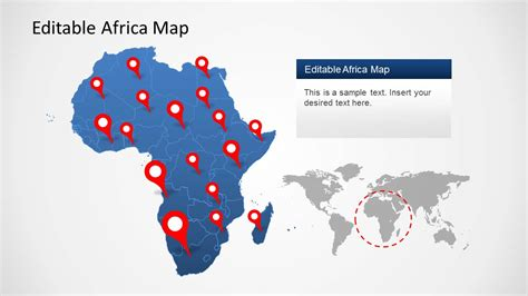 powerpoint map templates africa map template for powerpoint slidemodel