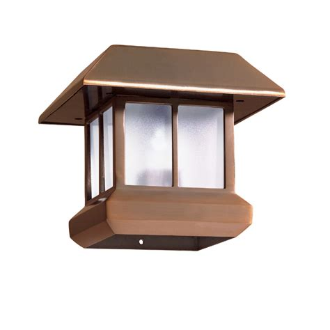 shop malibu 174 solar post top light at lowes