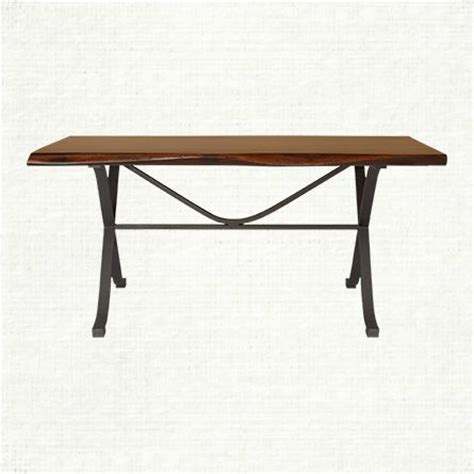 arvada 60 quot rectangle dining table with iron arvada base in
