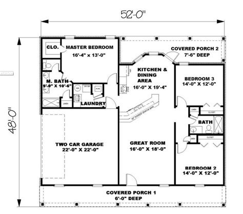 1500 sq ft house plans ranch plan 1 500 square 3 bedrooms 2 bathrooms