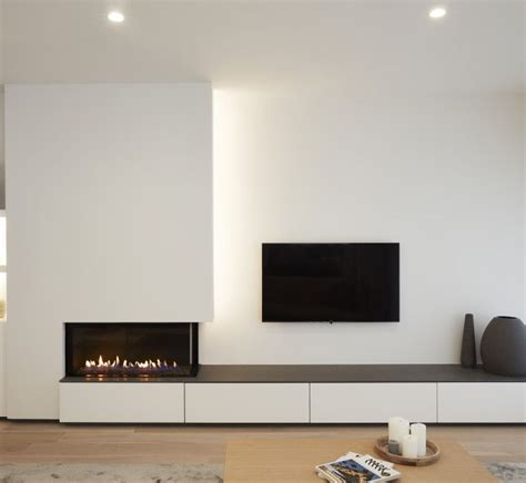 Kamin Und Fernseher by Gas To One Side Not Tv Above Other Idea Is