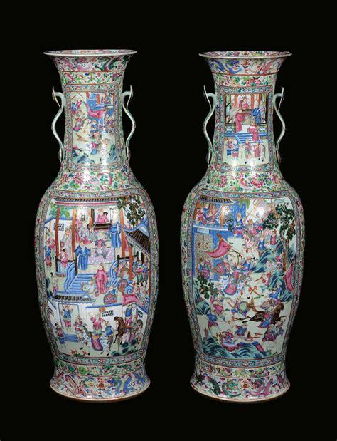 vasi grandi coppia di grandi e rari vasi monumentali in porcellana