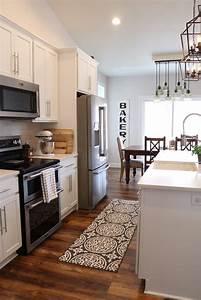 White, Modern, Farmhouse, Kitchen, Large, Island