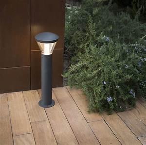 Borne Luminaire Extérieur : borne shelby noir h63cm faro luminaires nedgis ~ Teatrodelosmanantiales.com Idées de Décoration