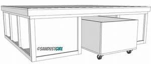 diy platform bed with storage plans Quick Woodworking
