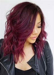 Dark Auburn Red Hair Color with Highlights